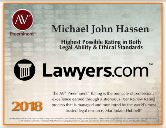 2018 AV Preeminent Attorney Lawyers.com
